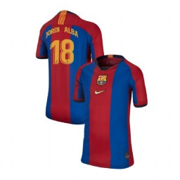 YOUTH Jordi Alba Barcelona Replica El Clasico Blue Red Retro Jersey