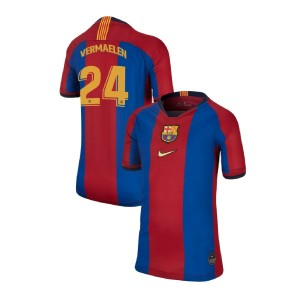 YOUTH Thomas Vermaelen Barcelona Replica El Clasico Blue Red Retro Jersey