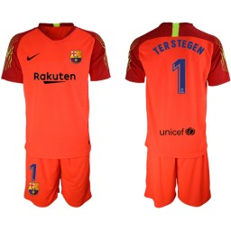 2019/20 Barcelona Goalkeeper #1 TER STEGEN Red Jersey