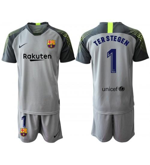 2019/20 Barcelona Goalkeeper #1 TER STEGEN Gray Jersey