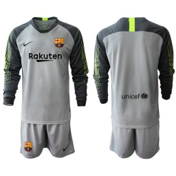 2019/20 Barcelona Goalkeeper Gray Long Sleeve Goalkeeper Jersey