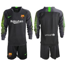 2019/20 Barcelona Goalkeeper Black Long Sleeve Goalkeeper Jersey
