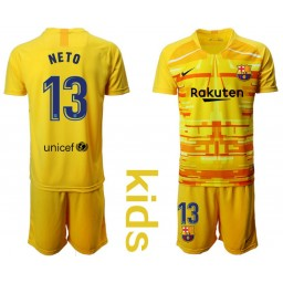 YOUTH 2019/20 Barcelona Goalkeeper #13 CILLESSEN Yellow Jersey