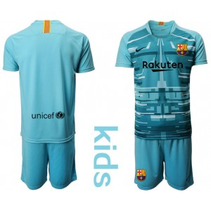 YOUTH 2019/20 Barcelona Goalkeeper Lake Blue Goalkeeper Jersey