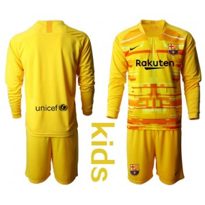 YOUTH 2019/20 Barcelona Goalkeeper Yellow Long Sleeve Jersey