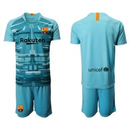 2019/20 Barcelona Goalkeeper Lake Blue Goalkeeper Jersey