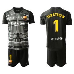 2019/20 Barcelona Goalkeeper #1 TER STEGEN Black Jersey