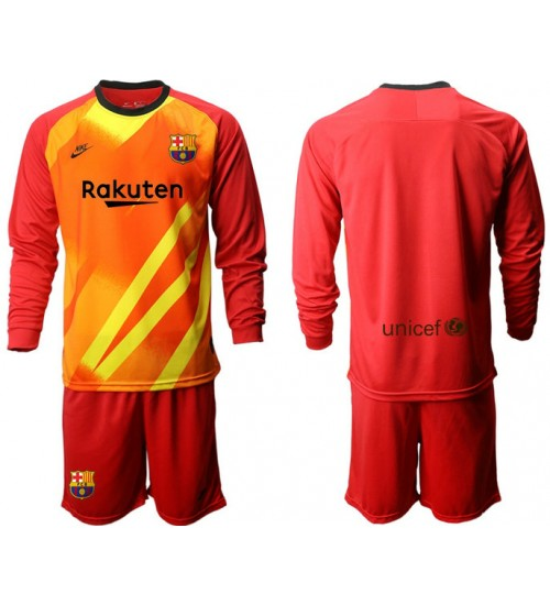 2019/20 Barcelona Goalkeeper Red Long Sleeve Jersey