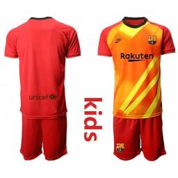 2019/20 Barcelona Goalkeeper Redkids Jersey