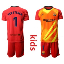 2019/20 Barcelona Goalkeeper #1 TER STEGEN Redkids Jersey