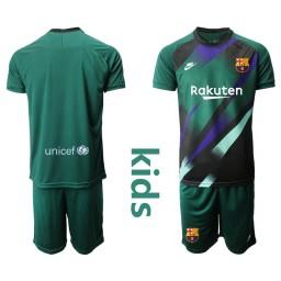 YOUTH 2019/20 Barcelona Goalkeeper Dark Green Goalkeeper Jersey