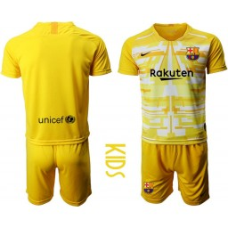 2019/20 Barcelona Goalkeeper Yellow Goalkeeper Jersey