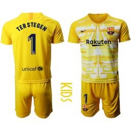 2019/20 Barcelona Goalkeeper #1 TER STEGEN Yellow Jersey