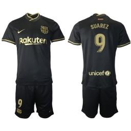 Womens 2020/21 Barcelona #9 Luis Suarez Black Authentic Away Jersey