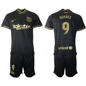 Youth 2020/21 Barcelona #9 Luis Suarez Black Replica Away Jersey
