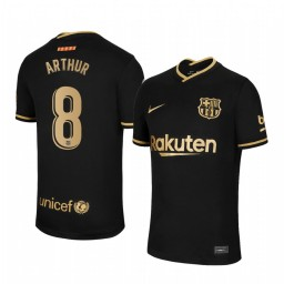 Youth 2020/21 Barcelona #8 Arthur Black Authentic Away Jersey