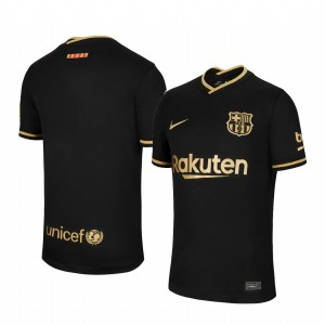 Youth 2020/21 Barcelona Black Replica Away Jersey