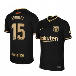 Youth 2020/21 Barcelona #15 Clement Lenglet Black Authentic Away Jersey
