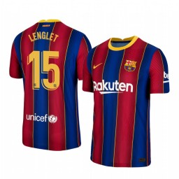 Youth 2020/21 Barcelona #15 Clement Lenglet Blue Red Authentic Home Jersey