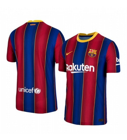 Youth 2020/21 Barcelona Blue Red Replica Home Jersey