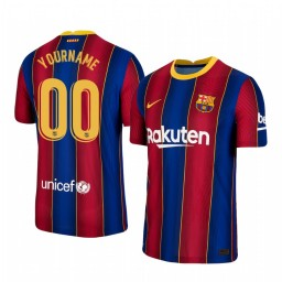 Custom Youth 2020/21 Barcelona  Blue Red Authentic Home Jersey