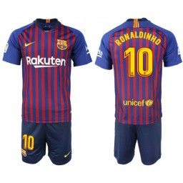 Barcelona 2018-19 #10 RONALDINHO Home Jersey
